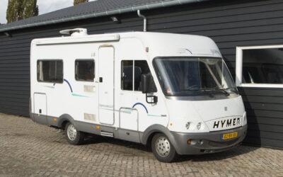 Hymer B574 integraal camper met frans bed en hefbed